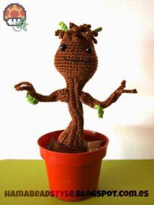 Baby Groot – Amigurumi [patrón GRATIS]
