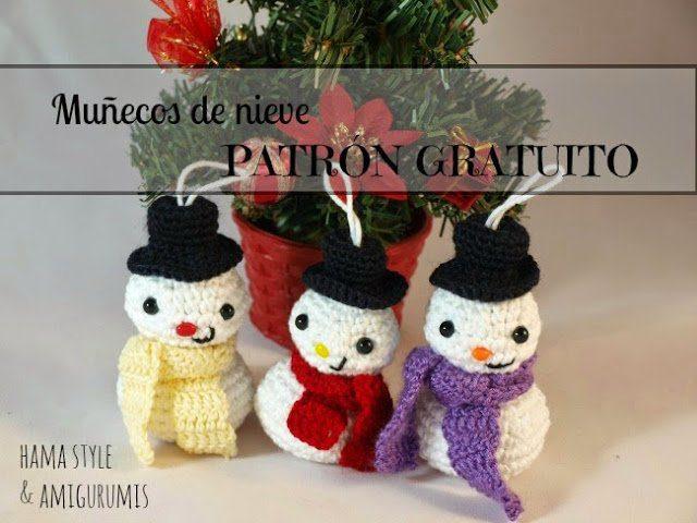 Muñeco de nieve amigurumi [PATRÓN GRATIS]
