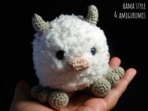 Lee más sobre el artículo Mini Yeti – Amigurumi [PATRÓN GRATIS]