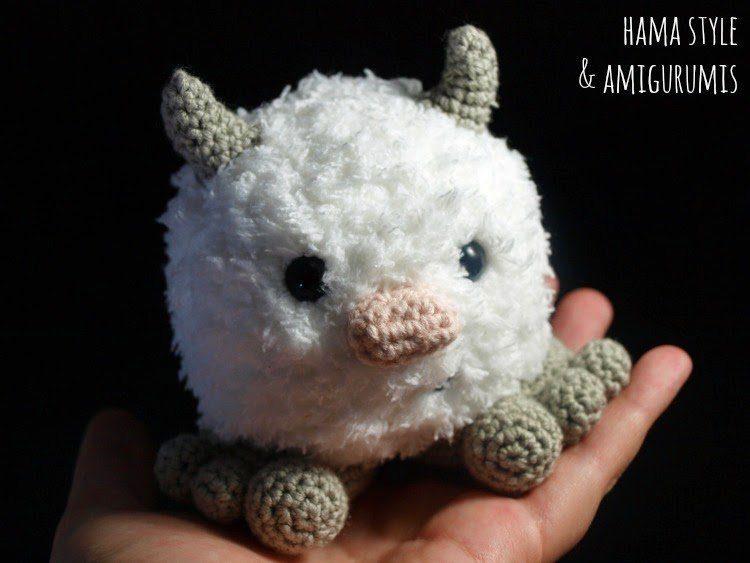 Mini Yeti – Amigurumi [PATRÓN GRATIS]