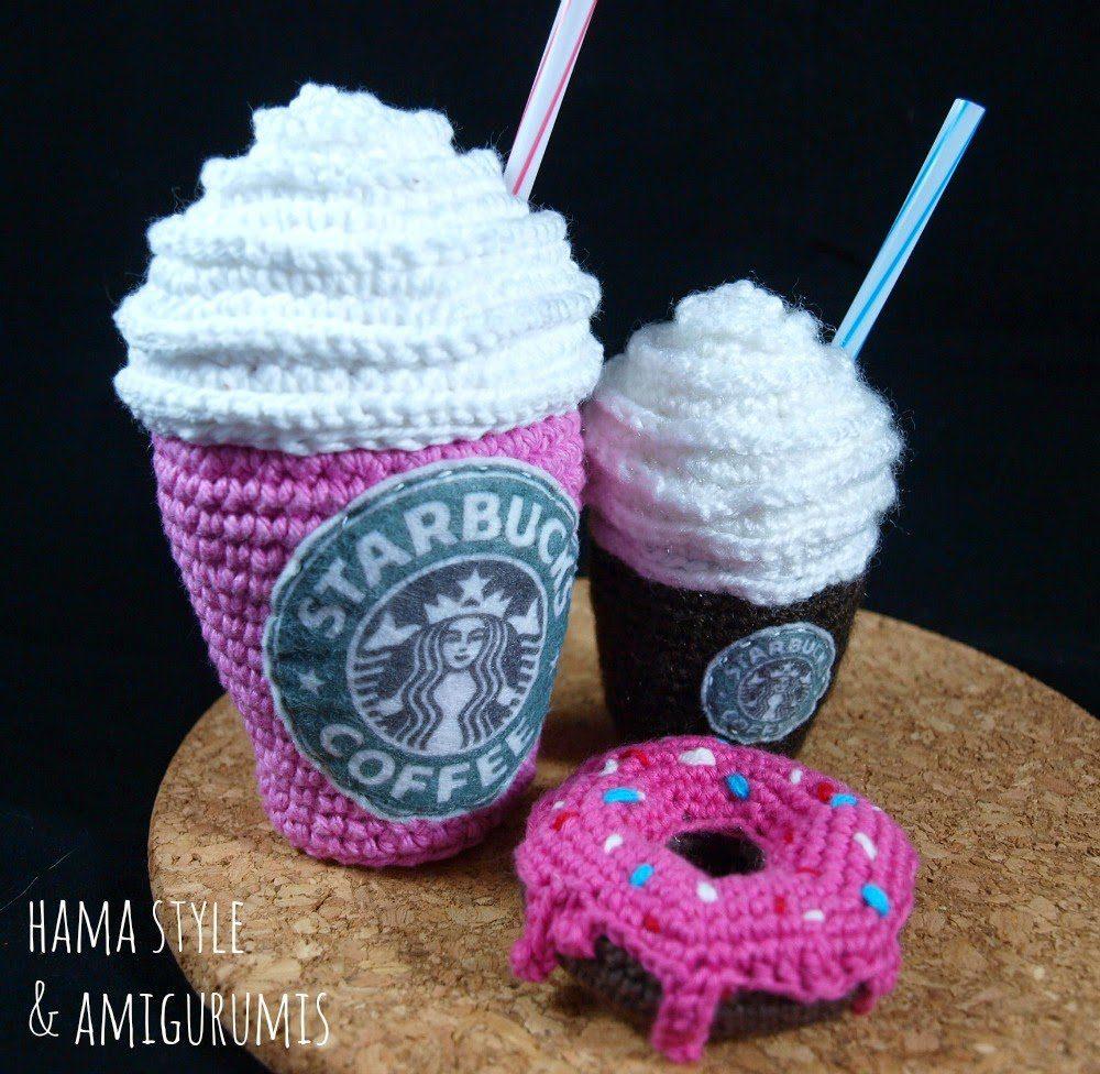 Café frapuccino Starbucks – Amigurumi [patrón GRATIS]
