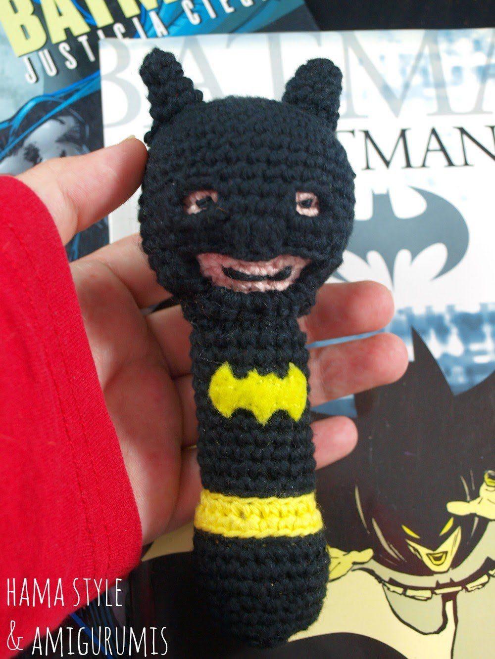 Lee más sobre el artículo Sonajero Batman – [PATRÓN GRATIS]