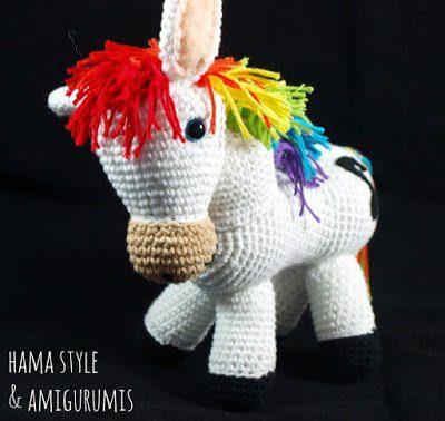 Caballo arco iris Amigurumi – [PATRÓN GRATIS]