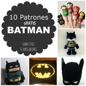 #BatmanDay – 10 patrones amigurumis BATMAN [GRATIS]