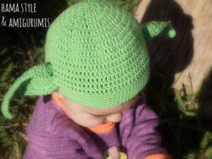 Lee más sobre el artículo Gorrito Yoda para bebé [PATRÓN]