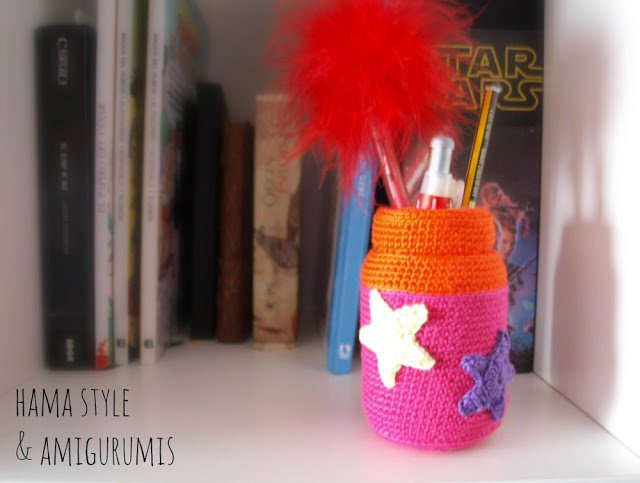 Tarro de cristal decorado a CROCHET – Idea decoración
