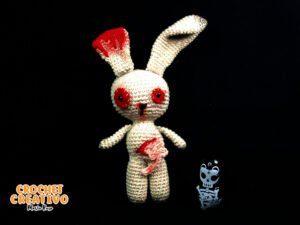 Conejito zombie – Especial Halloween [PATRÓN GRATIS]