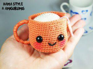 Taza de té amigurumi [PATRÓN GRATIS]