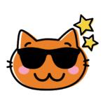 Gatito con estrellas y gafas