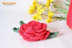 Lee más sobre el artículo Rosa a crochet [videotutorial + patrón gratis]