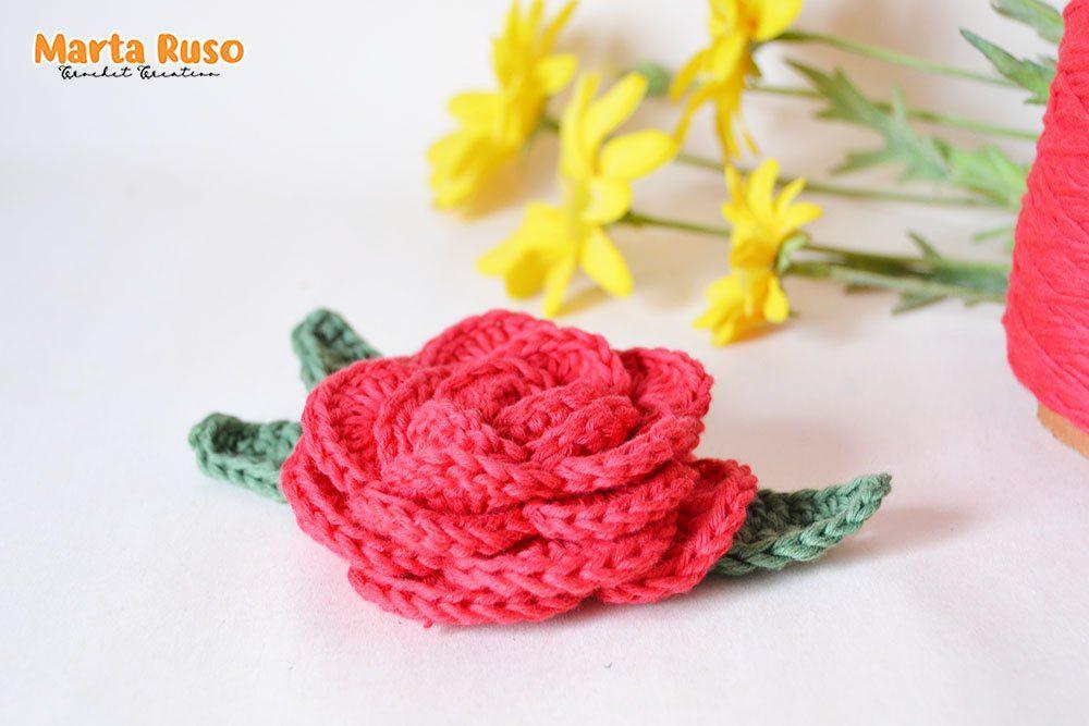 Rosa a crochet [videotutorial + patrón gratis]